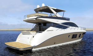 Hard-top motor yacht