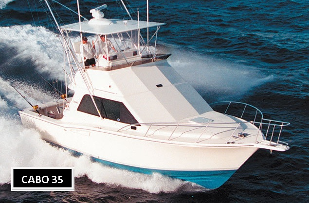 35' Cabo Yachts Flybridge Boats For Sale
