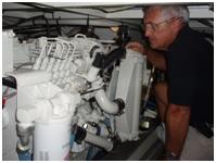 Marine hull surveyor boat inspection